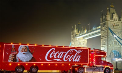 Free Drinks from the Coca-Cola Christmas Truck Tour