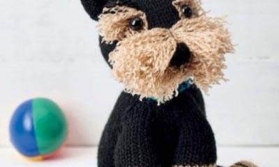 Free Freddie the Deradog Schnauzer Knit Pattern
