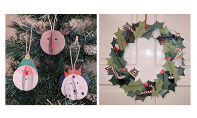 Free Downloadable Frugi Christmas Decorations