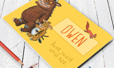 Free Gruffalo Personalised Notebooks