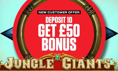 Play Jungle Giants with £50 when you Deposit £10