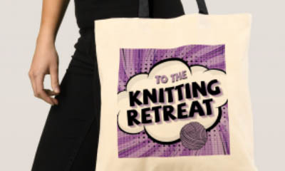 Free Colourful Knitting Tote Bags