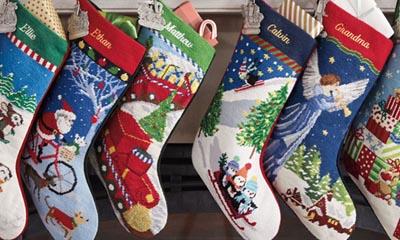 Free Personalised Christmas Stockings