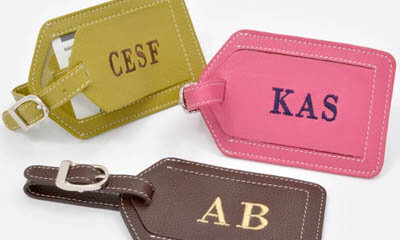 Free Personalised Luggage Tags