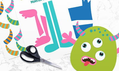 image regarding Build a Monster Printable identify Totally free Printable Establish a Monster Template