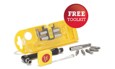 Free 15-Piece Toolkit