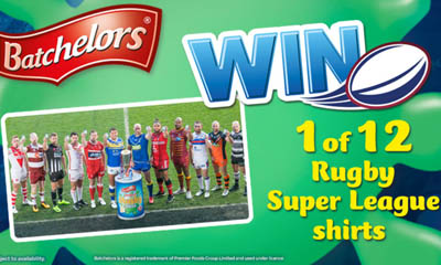 Win a Rugby League Shirt with Bacthelors