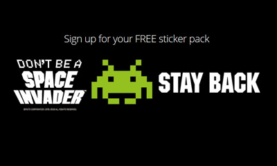 Free 'Don't be a Space Invader' Sticker Packs