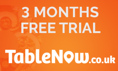 3 Month Free Trial of TableNow.co.uk