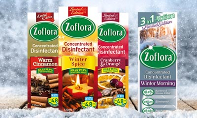 Free ZoFlora Disinfectant Christmas Scent