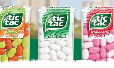 Free Packs of Tic Tac Fresh Mints
