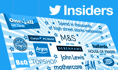 Free Gift Cards from Twitter Insiders Surveys