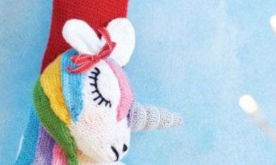 Free Unicorn Christmas Stocking Knit Pattern