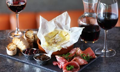 Free Wine, Charcuterie and Camembert