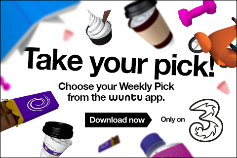 Cheeky treats from the Wuntu app. Only on Three