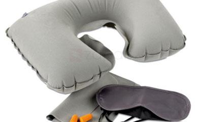 Free Travelkin Inflatable U-Shape Travel Neck Pillow Random