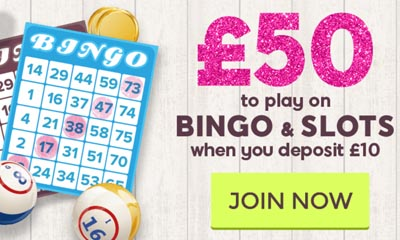 Play with £50 when you Deposit £10 with 888 Ladies