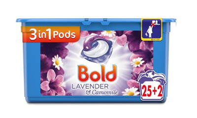 Free Bold 3in1 Pods Washing Capsules Lavender & Camomile