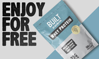 Free Whey Protein Sachet from Built by Nutrition
