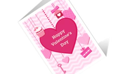 Free Valentine's Message Cards, Wrapping Paper & Decorations