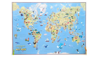 Free Kids Cartoon World Map