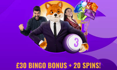 £30 Bingo Bonus Plus 20 Free Spins