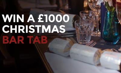 Win a £1,000 Christmas Bar Tab