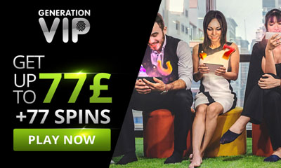 Your Invite to Claim 77 Spins and £77