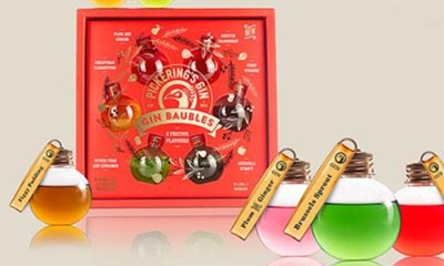 Free Pickering's Gin Festively Flavoured Gin Baubles