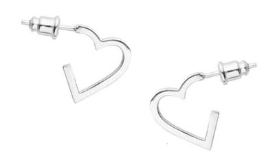 Free Heart Shaped Silver Earrings