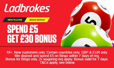 Spend £5 get £30 Bonus