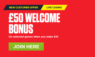 £50 Welcome Bonus on Selected Games