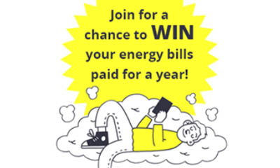Win Your Energy Bills Paid for a Year