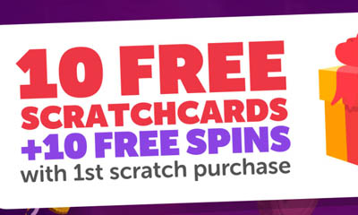 10 Free £5,000 Scratchcards