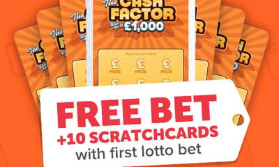 1 Free bet + 10 Free Scratchcards Offer