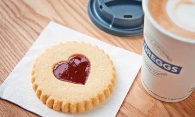 Free Jammy Heart Biscuit this Friday at Greggs