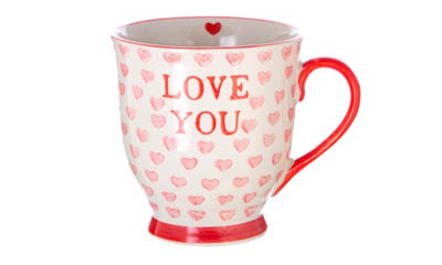 Free Love You Valentines Hearts Mug