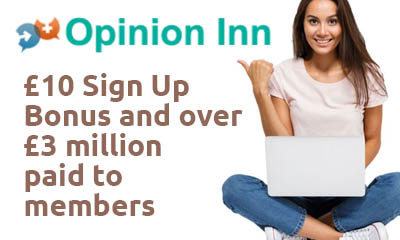 £10 Sign Up Bonus with Opinion Inn