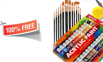 Free Acrylic Paint Sets
