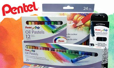 Free Pentel Arts Pens, Pastels & Pencils Sets