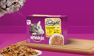 Free Pack of Whiskas Pure Delight Cat Food