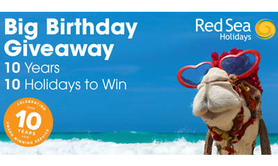 Win 1 of 10 Holidays to the Red Sea