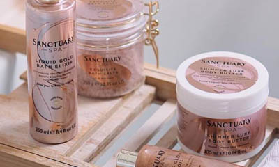 Free Sanctuary Spa Rose Gold Radiance Collection