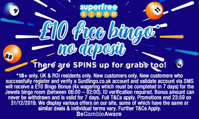 £10 Free Bingo To Play Now!