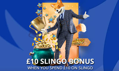 £10 Bonus When you Spend £10 of Slingo
