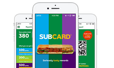 Free Subway Loyalty Card for Wallet or Mobile App
