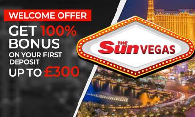 Sun Vegas 100% Bonus up to £300
