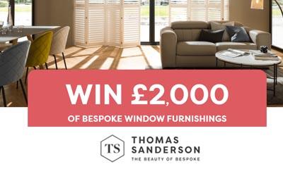 Win £2,000 worth of Bespoke Window Furnishings