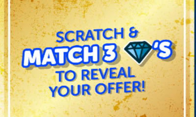 Scratch & Match To Reveal Your Free Bingo Bonus