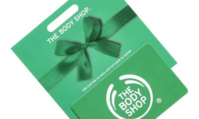Free Body Shop Gift Cards